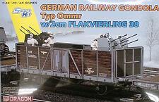 DRAGON 1:35 KIT VAGONE MILITARE GERMAN RAILWAY GONDOLA TYP Ommr    ART 6912