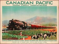 Canadian Pacific British Columbia Canada Vintage Railroad Travel Poster Print