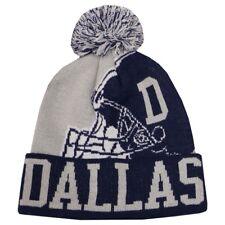DALLAS City Football Helmet Skull Cap Cuff Pom Beanie Winter Hat Cuffed NWT