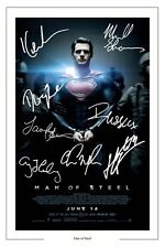 MAN OF STEEL CAST X8 SIGNED PHOTO PRINT AUTOGRAPH POSTER SUPERMAN HENRY CAVILL