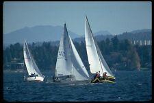 007022 Sloops Racing On Lake A4 Photo Print