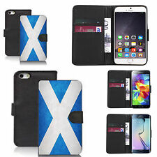 pu leather wallet case for many Mobile phones - scottish flag