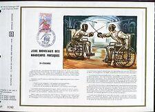 DOCUMENT CEF PREMIER JOUR  1970  TIMBRE N° 1649 JEUX MONDIAUX HANDICAPES