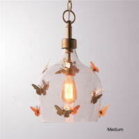 Retro Butterfly Glass Pendant Lamp Restaurant Ceiling Light Chandelier New