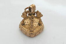 RARE VINTAGE 9ct SOLID GOLD 3D EMBOSSED SEAL or CHARM 8.62 g