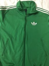 RETRO ADIDAS FIREBIRD TRACKSUIT TOP SIZE MEDIUM GREEN