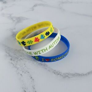 (X1) I Love Someone With Autism Wristbands Bracelet Autism Support UK Seller