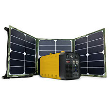 Portable 288Wh Solar Power Inverter Generator Storage 4-USB + Jump Starter