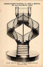 CPA PARIS (3e) Cnam - Escalier double colimacon (215112)