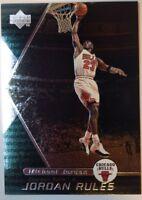 1998/99 Michael Jordan Upper Deck Jordan Rules Silver #J8 Rare Insert Parallel!