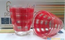 Bicchieri zeus quadri 6pz rosso la reine