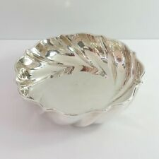 Vintage Silverplate Twisted Bowl, Sweet/Nut Serving Dish