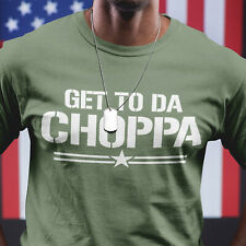 Get To Da Choppa T-Shirt Mens Womens Kids Arnie Film Famous Quote Movies Funny
