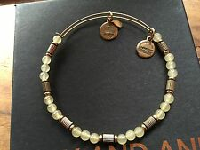 Lemonade Traveler Beaded Gold Bangle Bracelet Alex and Ani Carnivals & Caravans
