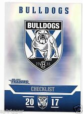2017 NRL Traders Parallel Special (PS021) BULLDOGS Check List