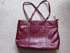 """Laptop Bag Notebook Tablet Carrying or Shoulder Briefcase - Burgundy 13"""" x 19"""""""