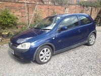 Vauxhall Corsa 2003 1.2 sxi in Blue - no reserve auction