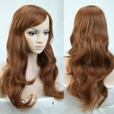 Real Thick Womens Long Wave Straight Curly Ombre Hair Wig Full Head Wigs Blonde