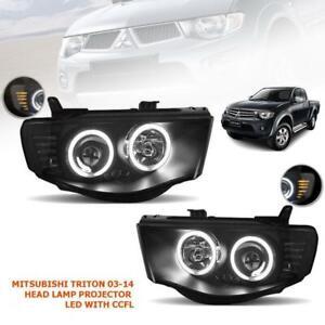 For 2005 06 07 - 2014 Mitsubishi L200 Triton Strada Head Lamp LED Projetor -Pair
