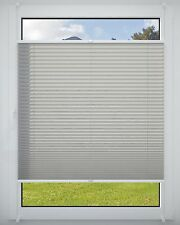 no-drill pleated clip-fit braced Roller Blind Blinds Blind Grey 40x220cm