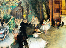 The Rehearsal of the Ballet Onstage by Edgar Degas A2 Canvas Print Wall Art