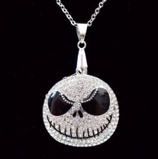 Nightmare Before Christmas Iced Out Bling Collana Pendente Su Catena in Argento 24""