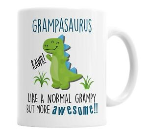 Grampasaurus Mug Grampy Dinosaur Cup for Fathers Day Birthday Christmas Funny