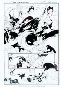 Damian Scott WIZARD 150 SPOILER insert pg 4 SPOILER VS PENGUIN + SCOUTED BY BAT