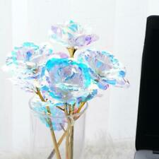 24K Gold Foil Rose Flower LED Luminous Galaxy Mother's Gift Valentine's Day New