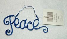 "New 5"" Wide Blue Sparkly ""PEACE"" Word Ornament Kirkland's Home"