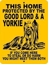 Yorkshire terrier aluminum sign 1802 9 x 12