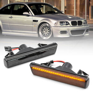 Smoked lens Led Fender Side Marker Light for 01-06 BMW 3 Series E46 M3 Coupe 2pc