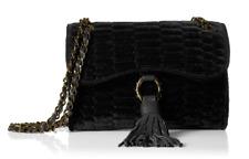 NWT $148 AIMEE KESTENBERG Medina II Black Gold Chain Shoulder Handbag