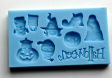 Halloween Silicone Mould Cake Decoration Chocolate Fimo Polymer Cupcake Toppers