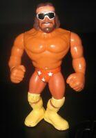 WWE WWF WCW Macho Man Randy Savage Wrestling Wrestler Figure Toy Hasbro 1990