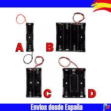 18650 Socket Caja de 1, 2, 3 y 4 Ranuras Con Cable Plastico Negro