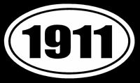 1911 Vinyl Decal Sticker Car Window Wall Bumper Gun Ammo AR-15