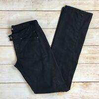 Armani Exchange Womens Black Twill Straight Leg Casual Pants Sz 2