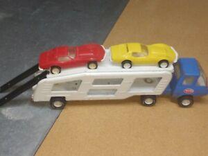 Mini Tonka Car Hauler / Car Carrier / Motor Transport with 2 Corvettes & Ramps
