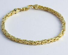 "10 gram 14K Yellow Solid Gold Men's Women's Byzantine Chain bracelet 8"" 2.50 mm"