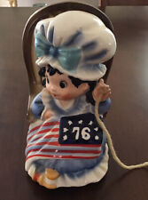 Vintage Betsy Ross Music Box Rocking Chair She Rocks As The Music Plays
