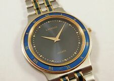 Lassale by Seiko Blue & Gold Stainless Steel 7N00-6010 Sample Watch NON-WORKING