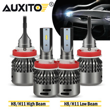 4x H11/H9/H8 Combo LED High/Low Beam Headlight Kit6500K For 07-19 Nissan Altima