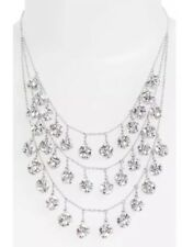 Kate Spade Mini Fringe Bib Silver Women's Necklace 0601