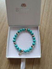New Genuine Ti Sento Silver and Turquoise Bracelet