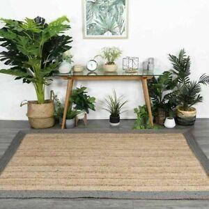 Rug 100% Natural Jute Rectangle Braided Floor Mat Handmade Reversible Runner Rug
