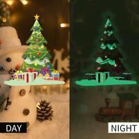 Luminous Christmas Tree Wall Sticker Door Window Glass Decal Self-adhesive Decor