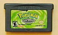GBA Pokemon Leaf Green Pocket Monster Nintendo Gameboy Game Boy Advance 5-10day