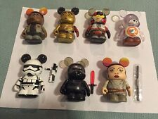 "STAR WARS Vinylmation 3"" The Force Awakens Set Of 7 w/o Chaser or Variant DISNEY"