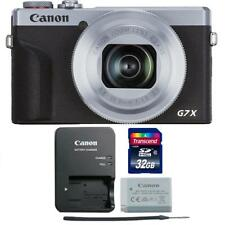 Canon PowerShot G7 X Mark III Digital Camera Silver with 32GB Memory Card